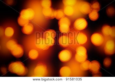 Yellow Bokeh Color Abstract Background