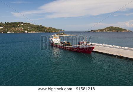 Barge On Port