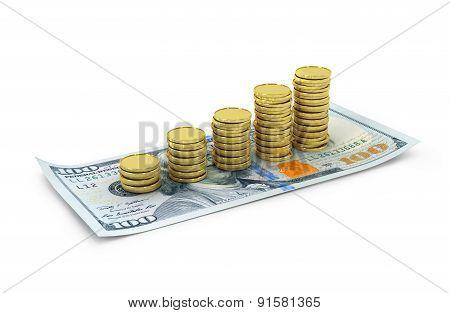 Still Life with cash dollars