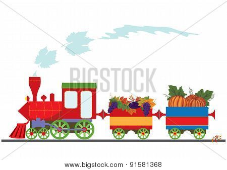 Autumnal Retro Locomotive