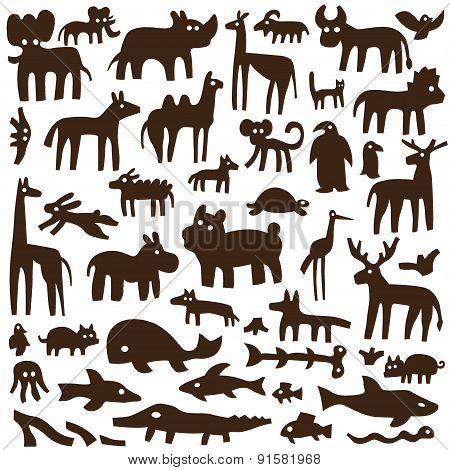 animals - doodles