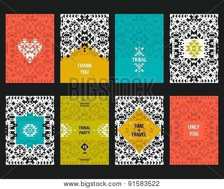 Vector geometric card templates