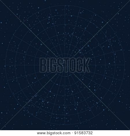 Vector sky map background