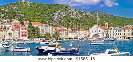 Picturesque Hvar Waterfront Panoramic View