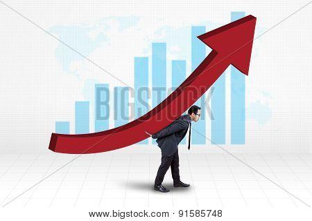 Investor Bring Financial Growth Graph