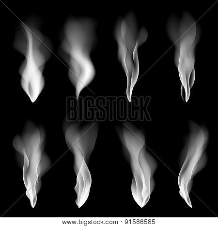 Vector Set Smoke, Background, Fire, Smooth, Wallpaper, Concept, Shape,