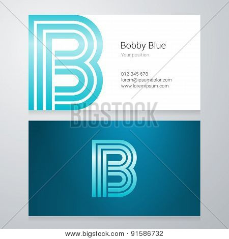 Letter B Business Card Template