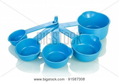 Measuring cups isolated