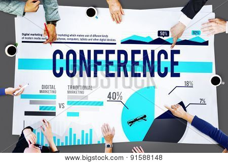 Conference Seminar Meeting Business Marketing Concept
