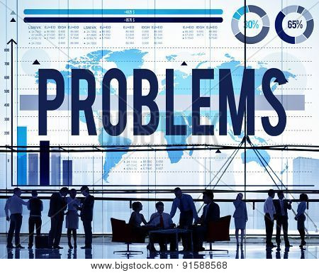 Problems Challenge Solution Solving Trouble Concept
