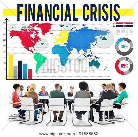 Financial Crisis Risk Savings Economics Profit Concept