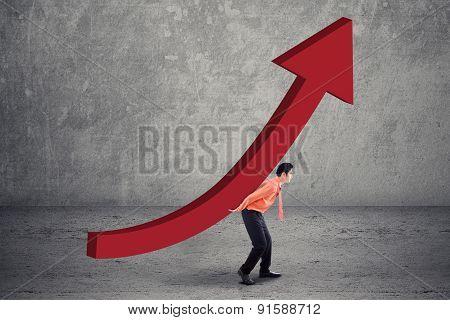 Worker Taking Financial Chart