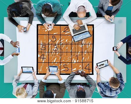 Sudoku Puzzle Solving Problem Solution Leisure Concept