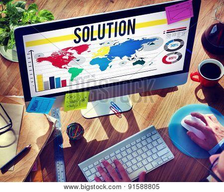 Solution Problem Solving Decision Answers Concept