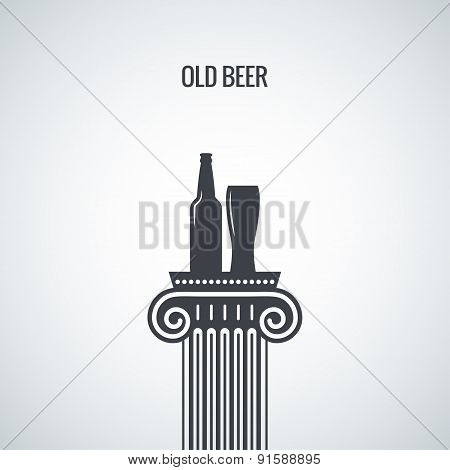 beer bottle glass classic design background