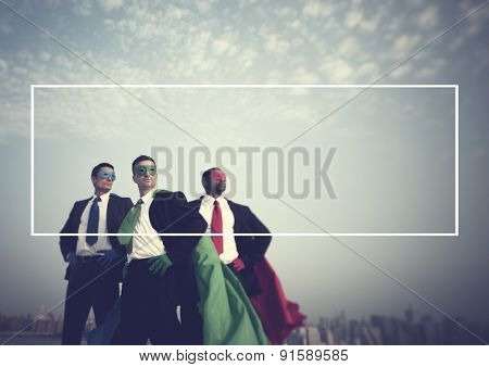 Superhero Businessmen New York Aspirations Concept