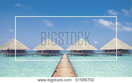 Beach Tropical Refreshing Vocation Island Concept