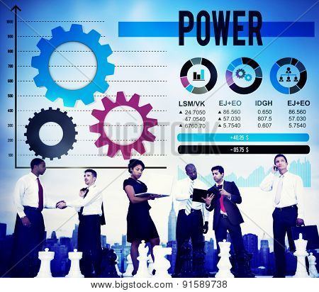 Power Competency Professional Skill Training Concept