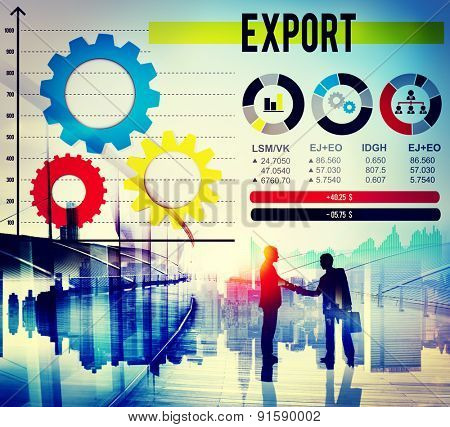 Export Merchandise Shipping Supply Marketing Concept