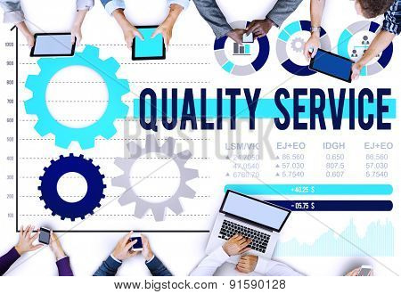 Quality Service Assistance Customer Satisfaction Concept