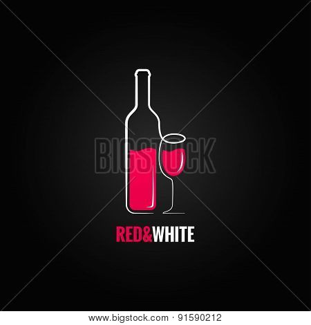 wine bottle glass design background