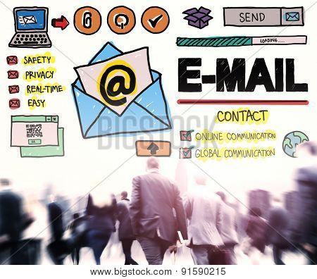 E-mail Online Messaging Correspondance Concept