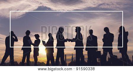 Business People Meeting Handshake Deal Agreement Concept