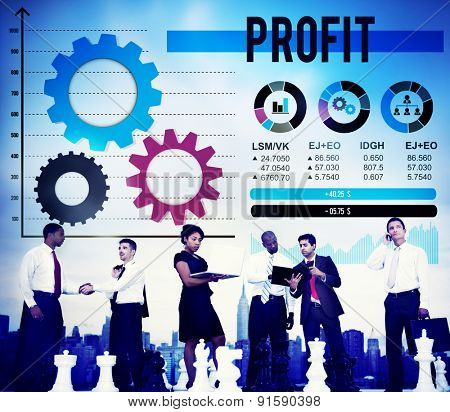Profit Benefit Accumulation Earning Accounting Concept