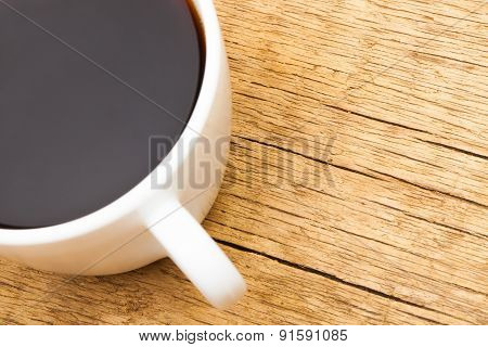 Cup Of Black Coffee - Close Up Studio Shot