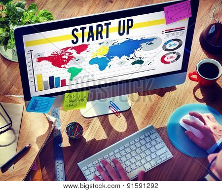Start Up Business Plan Goals Growth Mission Concept