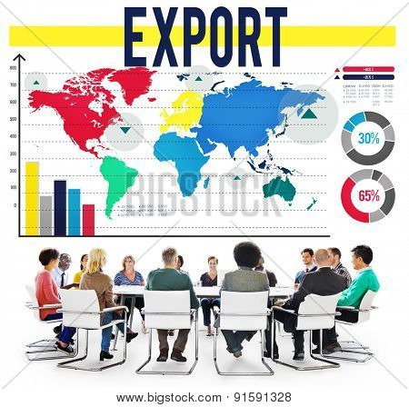 Export International Shipping Logistics Transfer Concept