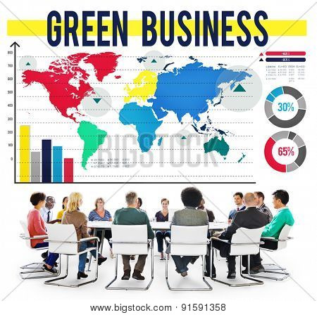 Green Business Global Environmental Conservation Concept