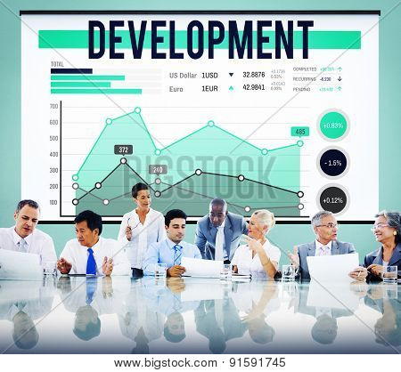 Development Improvement Growth Achievement Success Concept
