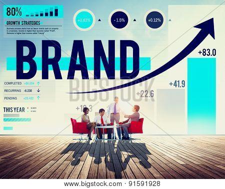 Brand Branding Logo Commercial Copyright Emblem Concept