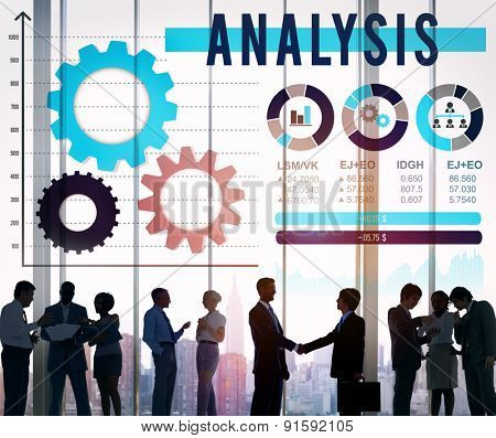 Analysis Analyze Business Information Data Concept