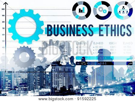 Business Ethnics Awareness Honesty Legal Concept