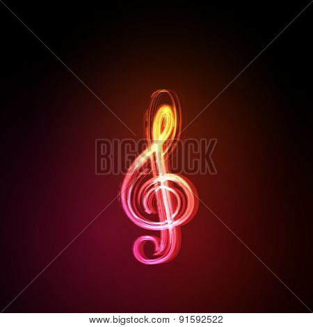 Light music notes on background  easy editable