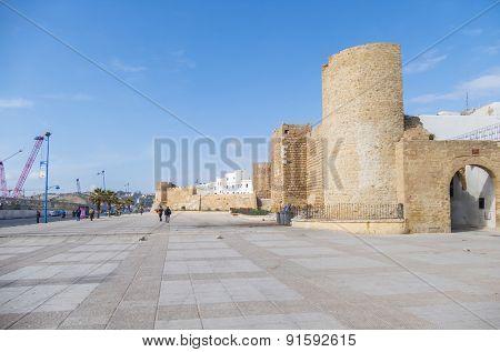 SAFI, MOROCCO, APRIL 6, 2015: Medina - ancient defensive wall