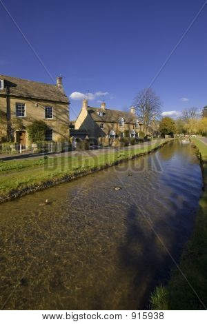 Lower Slaughter Village The Cotswolds Gloucestershire The Midlan