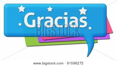 Gracias Colorful Comment Symbol