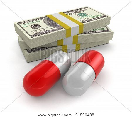 Pills and Dollars (clipping path included)