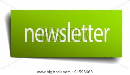 Newsletter Square Paper Sign Isolated On White