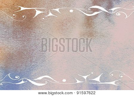 Handmade Ornaments On Paper Background - Abstract Graphic Design