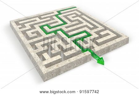 Exit Out Of The Stone Maze