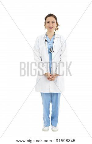 Female Doctor Or Nurse, Full Length, Portrait