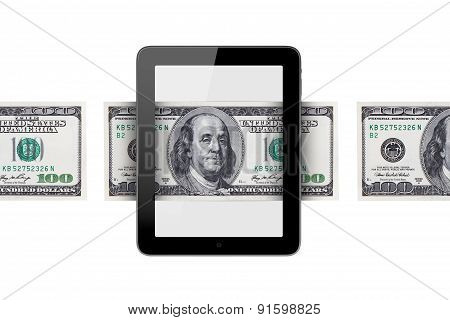 Banknote Around Tablet