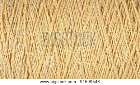 Spool Of Beige Thread Macro Background