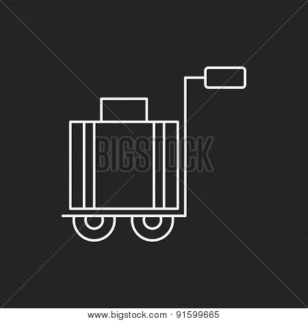 Suitcase Trolley Line Icon