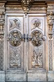 pic of pilaster  - carved wooden portal of an italian church - JPG