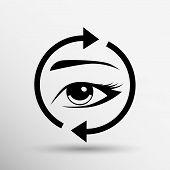 picture of eyebrows  - Eyelashes and eyebrows vector eyelash eye vector icon makeup isolated - JPG